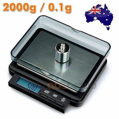 2000g 0.1g Mini Professional Digital Precision Weight Pocket Lab Kitchen Scale