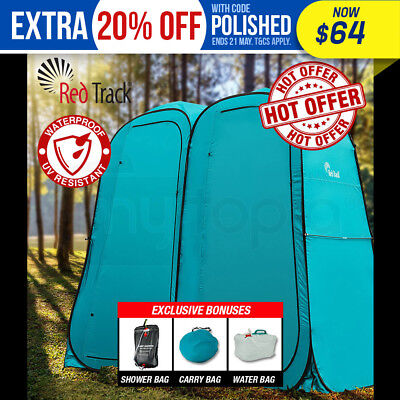 Pop-Up Twin Duo Ensuite Shower Tent Outdoor Camping Portable Toilet Change Room