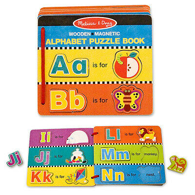 Melissa & Doug WOODEN MAGNETIC ENGLISH ALPHABET PUZZLE BOOK Baby/Toddler