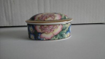 As New Royal Doulton ORCHARD Oval Trinket Box