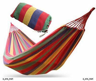Red Outdoor Garden Camping Patio Beach Travel Hammock Swing Chair Bed