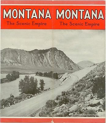c1930 Montana The Scenic Empire tourist brochure