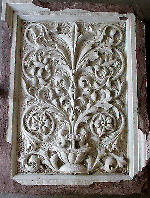 ~ Antique Carved Brownstone Plaque ~ 37.25 X 49  ~ Architectural Salvage ~