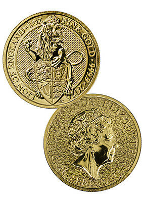 2016 Great Britain 100 Pounds 1 Oz Gold Queen's Beast - Lion of England SKU40292