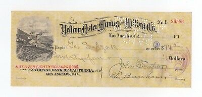 Yellow Aster Mining and Milling Co. Check