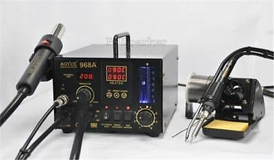 New 968A+ Smd/Smt Hot Air /Solder Station/Smoking Device 3 In1 Repair 220V H Y