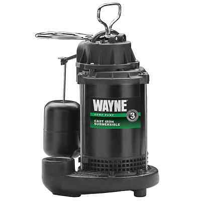 Wayne Cast Iron Sump Pump with Vertical Float Switch 4200 GPH, 1/2 HP CDU800