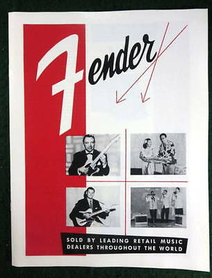 Fender Musical Instruments 1956 Product Brochure Catalog Downbeat Reprint New #1