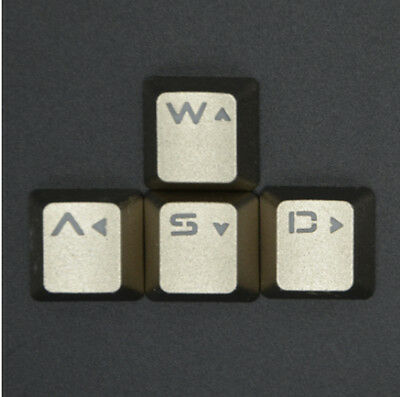 G Metal WASD Key Caps Transparent Keycaps Buttons Keyset for Mechanical Keyboard