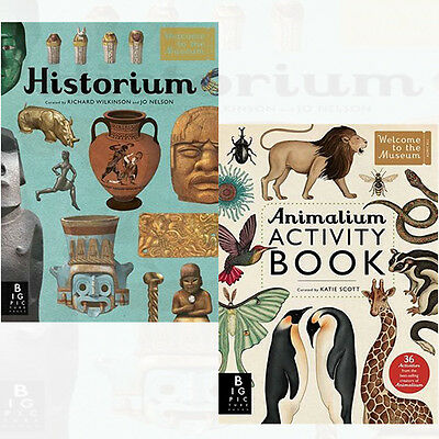 Welcome to the Museum Collection 2 Books Set Animalium Activity Book,Historium