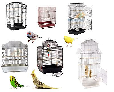 Small Large Metal Bird Budgie Canary Finch Cockatiel Cage Cages With Accessories