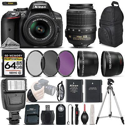 Nikon D5300 DSLR Camera 24.2MP + Nikon 18-55mm VR - Ultimate Saving Bundle