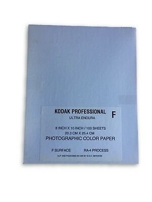 "100x Kodak Endura Photographic Paper Glossy 8x10"" RA-4 Processing Dark Room NEW"
