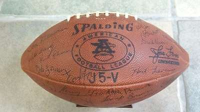Afl Game Football - S.d. Chargers Team Autographed - 1965 West Champions - Jsa