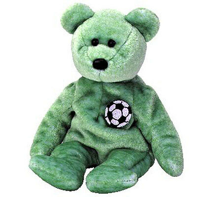 TY Beanie Baby - KICKS the Soccer Bear (8.5 inch) - MWMTs Stuffed Animal Toy