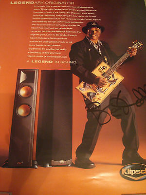 Bo Diddley Autographed Poster
