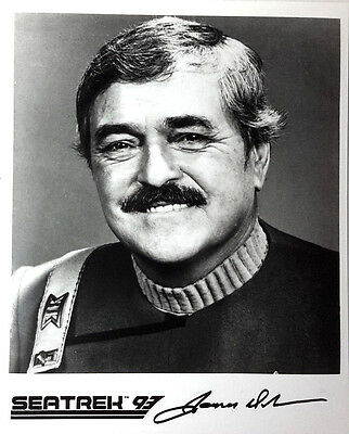 Star Trek Seatrek Autograph 8x10 Photo Signed by James Doohan/Scotty (LHAU-507)