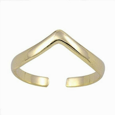 Tiara Toe Ring Sterling Silver Yellow Gold Plated Adjustable Best Deal Jewelry