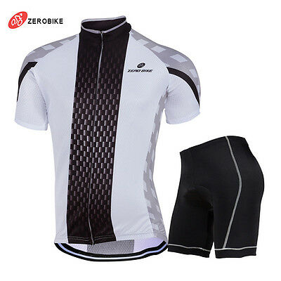 Mens New Sport Team Cycling Jersey Sets Bike Bicycle Top Short Sleeve  Clothing d876ba54a
