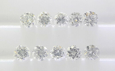 REAL 100% NATURAL Loose Round Diamond Clarity VS2 Color G-H White Colour 1.0MM
