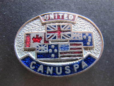 United CANUSPA Ename Alliesl Flags Badge Canada US Aust