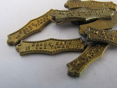 NEW-KNIFE-PARTS-KITS-ACCESSORIES : SCHRADE Bowtie Granddad Antique Brass Sheilds