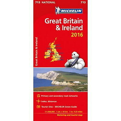 Great Britain & Ireland Michelin National Map 713 Motoring and Tourist 2016