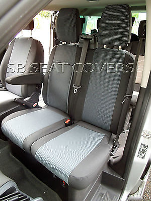 To Fit A Ford Transit 2014 Van Seat Covers 89A Fabric / Leatherette Trim