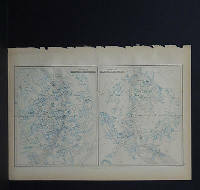 Antique Map, Black's, 1862 Celestial, Stars M7#30