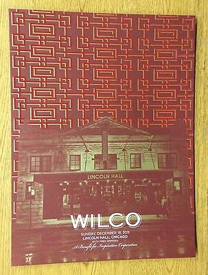 Wilco Chicago Il 2011 Original Concert Poster Lincoln Hall Silkscreen Flocked
