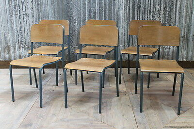 Vintage Straight Leg Cox Vlue Fram Stacking Chairs Large Quantity Available