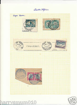 Paquebot postmark cancel Packet boat Stamp South Africa Cape Town SA5