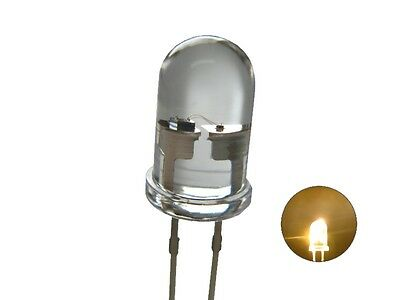 S460 - 20 Piece Flickering LEDs 5mm warm white clear light with Control