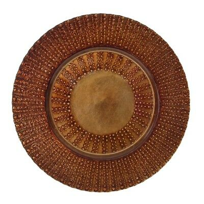 Ten Strawberry Street Aztec Copper Glass Charger Plate, Set of 6, Copper - AZT-3