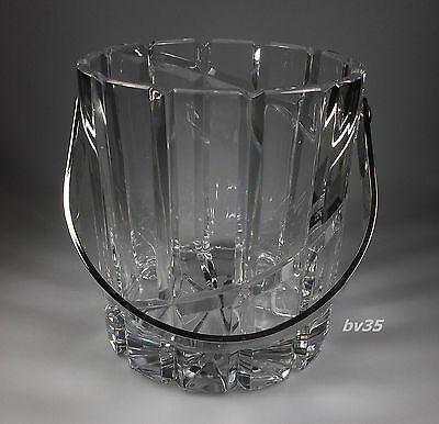 "MIKASA CRYSTAL UPTOWN or NORTHERN LIGHTS ICE BUCKET  6 1/8"" -  MINT!"