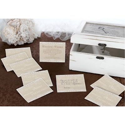 Wedding Wishes Country Lace Guest Cards Set of 48