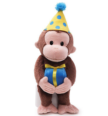 New CURIOUS GEORGE Plush Toy Stuffed Animal GUND Birthday Gift Present MONKEY