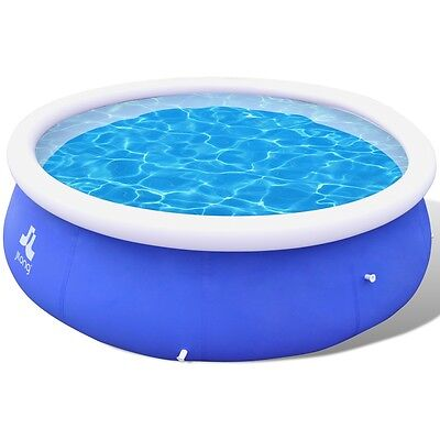 New 10ft Above Ground Swimming Pool Inflatable Spa Filter Pump Round Family PVC