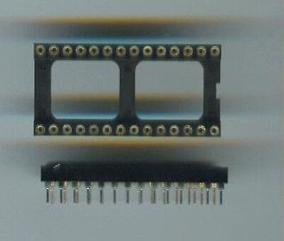 2x DIP-28 IC-Fassung IC-Sockel Präzisionsfassung 28pin DIL Precision