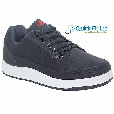 Mens Navy Canvas Casual Trainers Plimsoles Plimsolls Shoes Lace Up Pumps Sizes