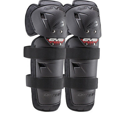 EVS Option Mini Knee Guards Motocross Armour MX Protection Enduro Black Pads