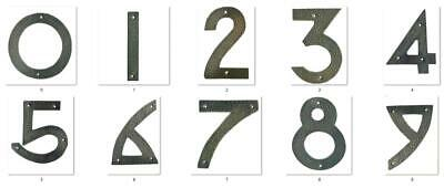 "0-9 Hammered solid copper metal house number arts & crafts 6"" - choose numbers"