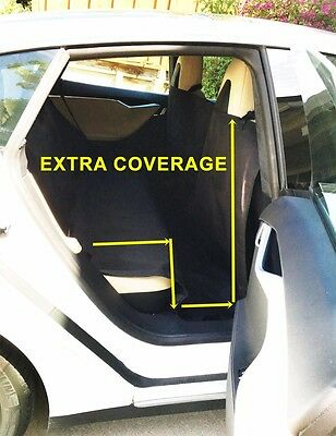 Extra Large Long Heavy Duty Pet Dog Car Seat Cover Waterproof Back Seat Black