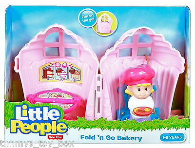 Fisher-Price Little People Fold 'n Go Bakery with Figure
