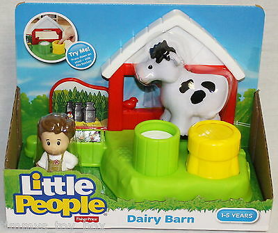Fisher-Price Little People Dairy Barn with Cow and Figure