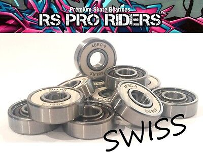 RS PRO 608 8x22x7mm CREAM SWISS ABEC 9 PREMIUM BEARINGS SKATEBOARD SKATE 11
