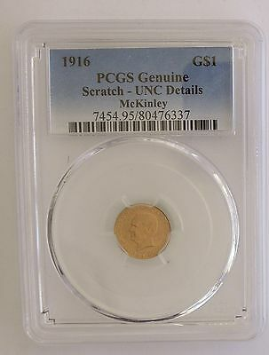 1916 GOLD $1 McKinley Commemorative Coin~~Uncirculated~~PCGS Slabbed