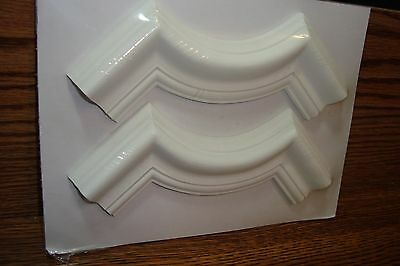 Parsons Scalloped Framing Corner / Crown Molding 2 Piece White Paintable