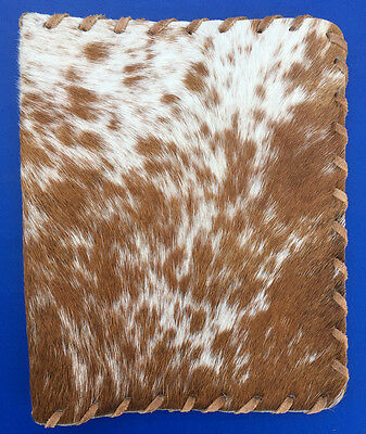 Western Cowboy Decor Natural Cowhide Hand Sewn & Rawhide Laced Bible Cover