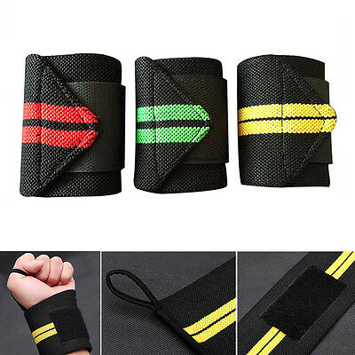 Weight Lifting Training Fitness Gym Sport Wrist Wraps Bandage Hand Support Strap